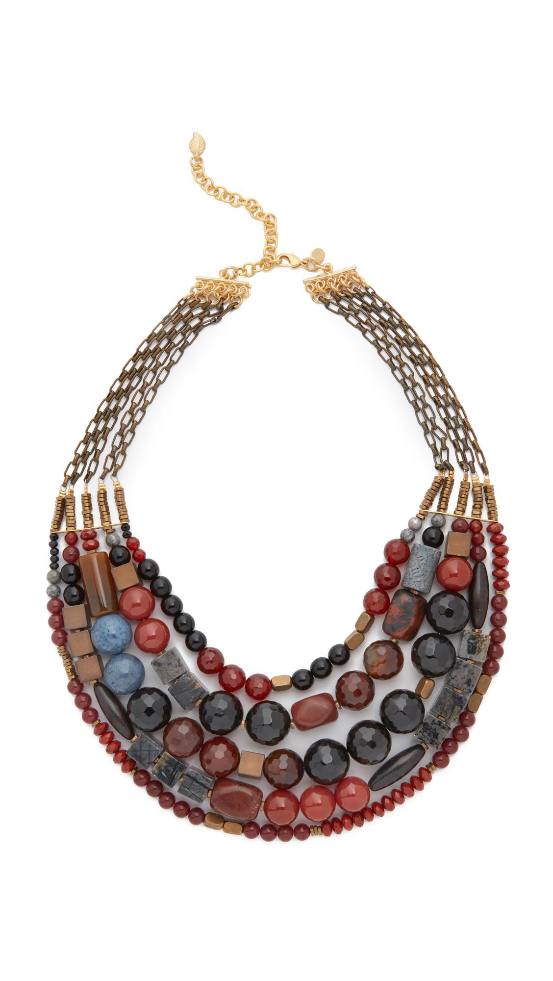 David Aubrey Hailey Layered Necklace - Gold Multi