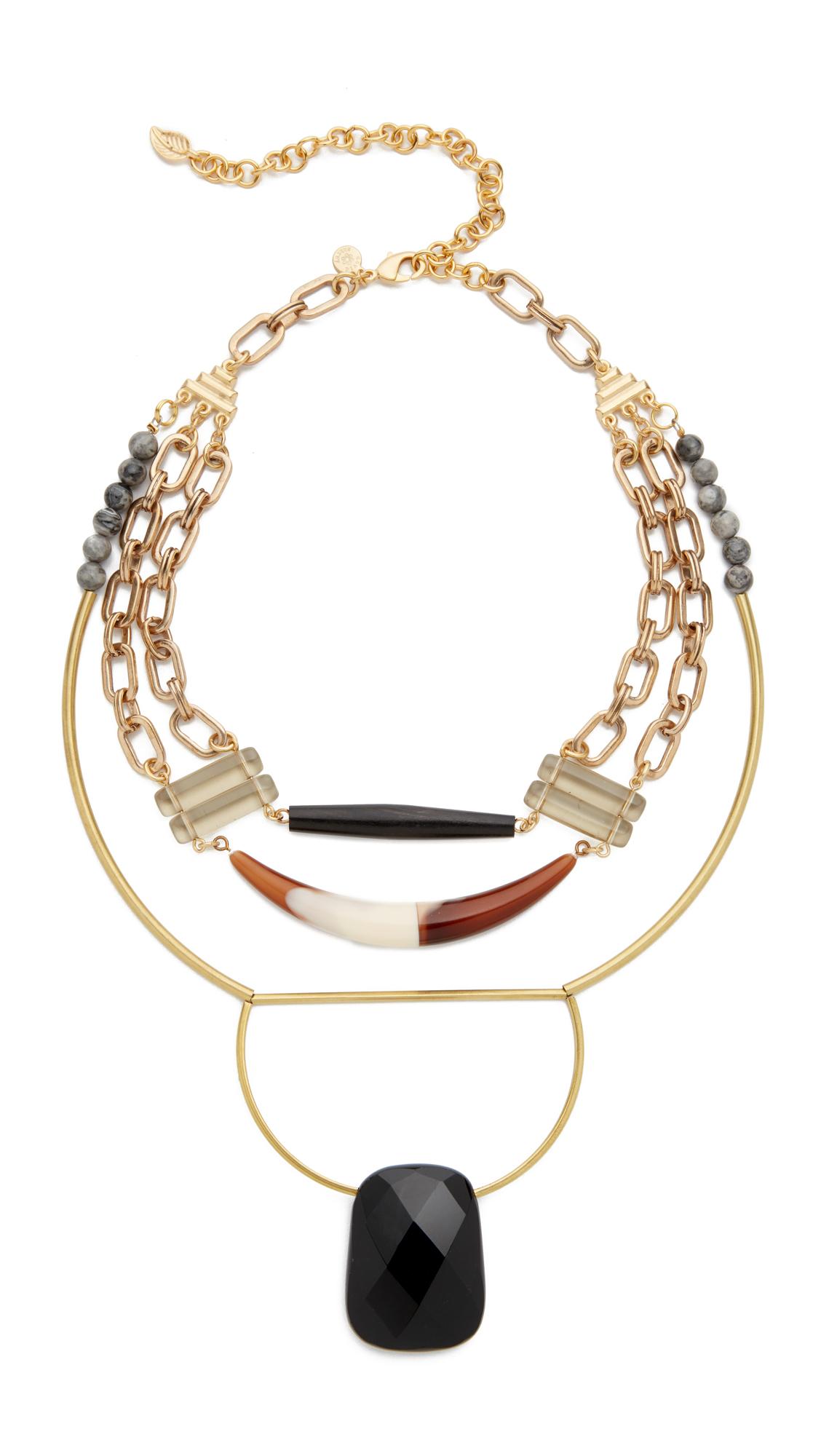 David Aubrey Genesis Necklace - Gold Multi