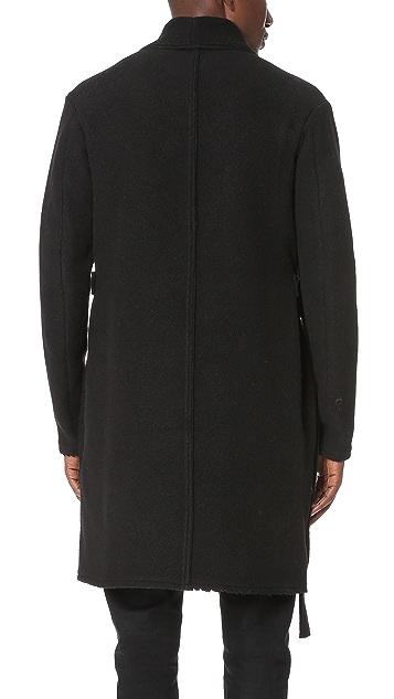 Damir Doma Chopino Heavy Felted Wool Wrap Coat