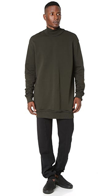 Damir Doma Wagner Heavy Jersey Turtleneck Sweatshirt