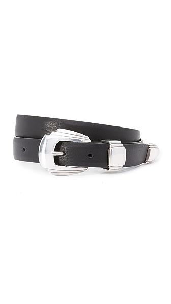 Deborah Drattell Vespina Belt In Black/Silver