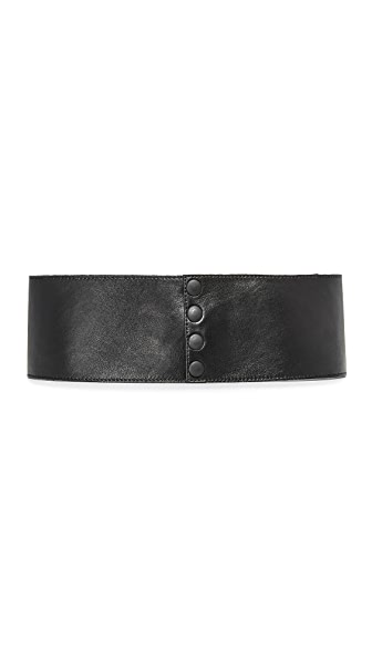 Deborah Drattell Donna Anna Wide Belt - Black