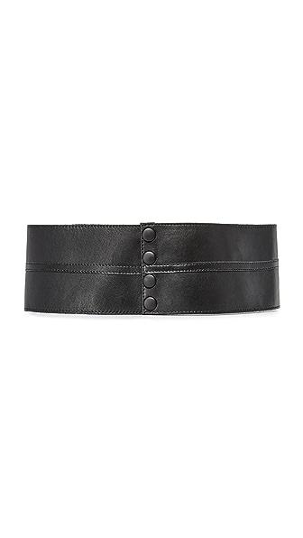 Deborah Drattell Donna Anna Cummerbund Belt In Black