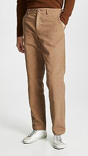 De Bonne Facture Wide Leg Straight Trousers