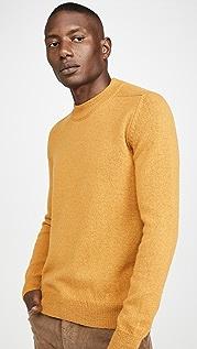 De Bonne Facture Long Sleeve Mock Neck Alpaca Sweater