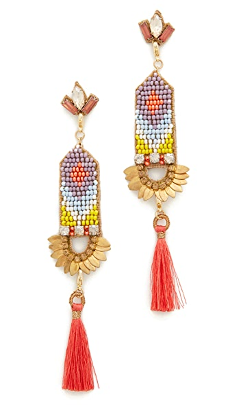 Deepa Gurnani Deepa by Deepa Gurnani Harmony Earrings In Coral