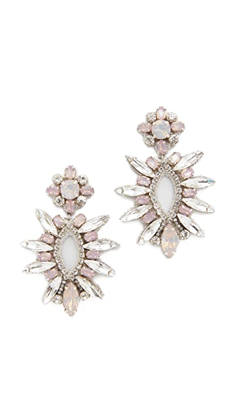 Deepa Gurnani Deepa By Deepa Gurnani Wiley Earrings In Silver/Pink