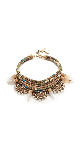 Deepa Gurnani Jarah Necklace - Beige/Multi
