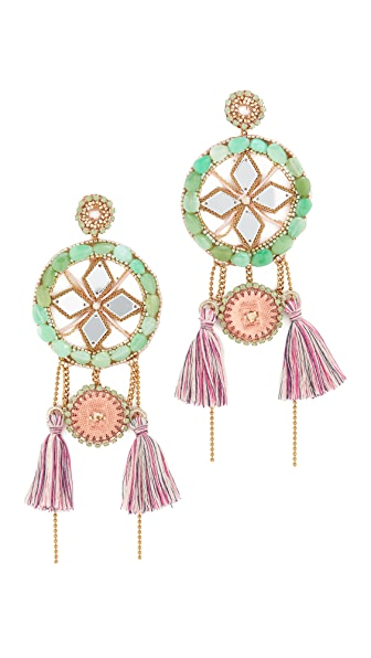 Deepa Gurnani Latika Earrings - Mint