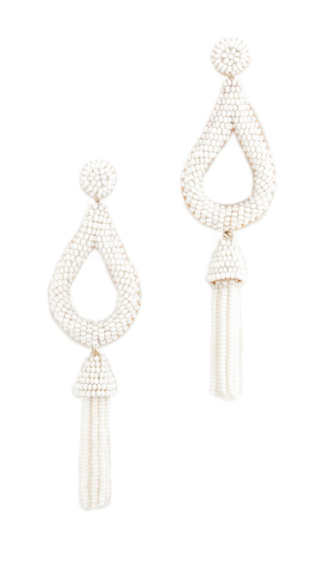 Deepa Gurnani Deepa by Deepa Gurnani Layla Earrings - White