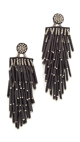 Deepa Gurnani Deepa by Deepa Gurnani Charlotte Earrings In Black