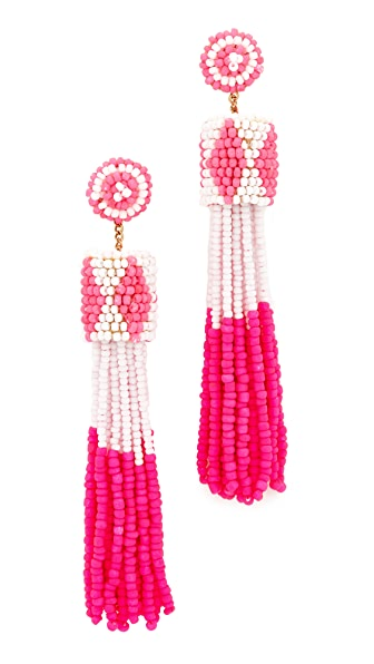 Deepa Gurnani Deepa by Deepa Gurnani Molly Earrings - Fuchsia/White