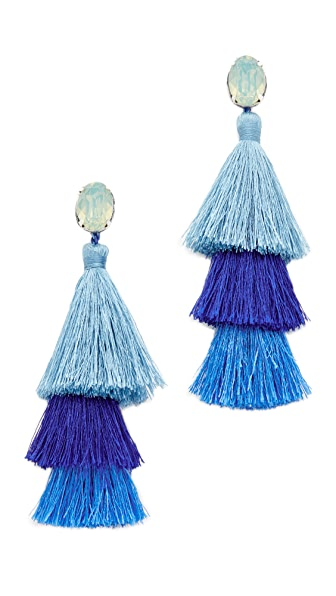 Deepa Gurnani Deepa by Deepa Gurnani Beatrice Earrings In Blue Multi