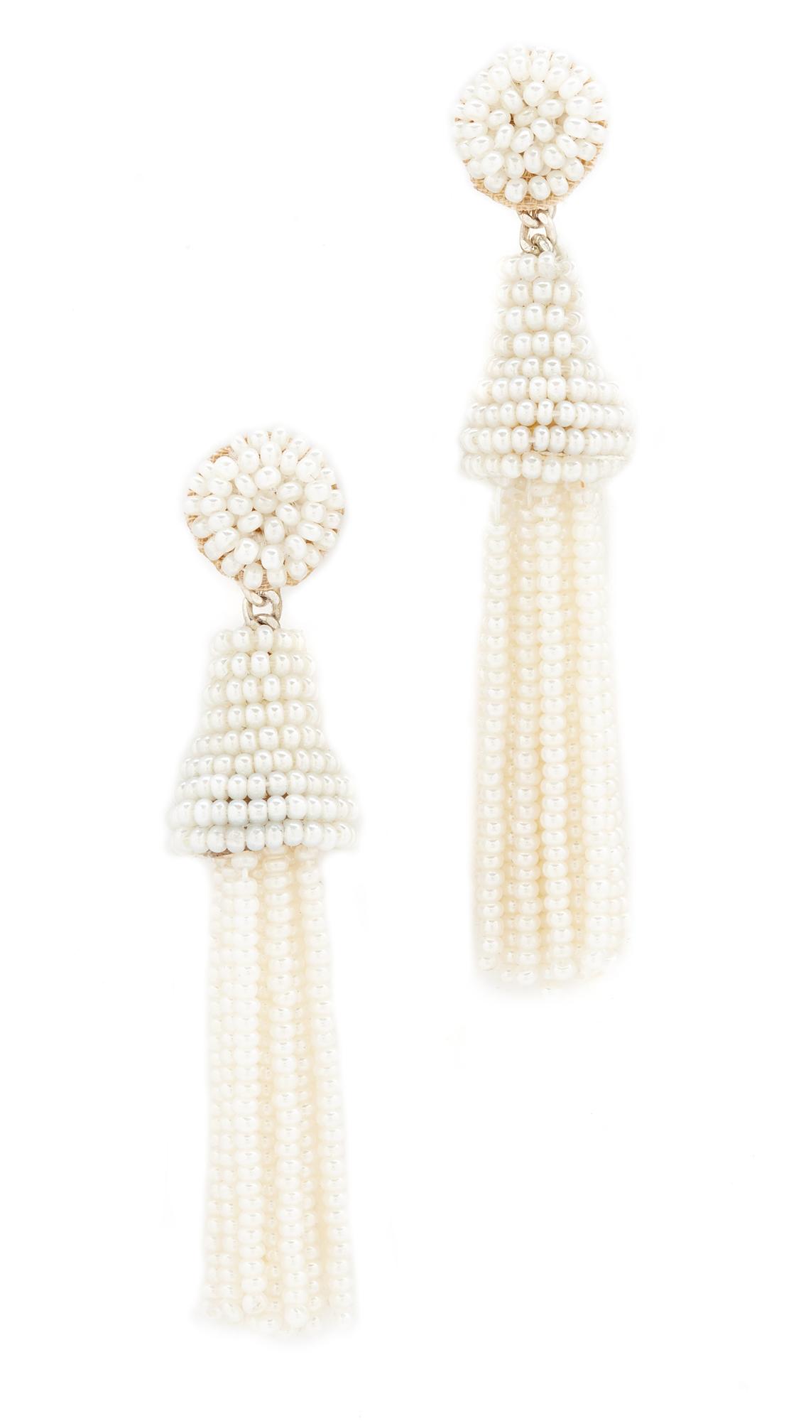 Deepa Gurnani Deepa by Deepa Gurnani Rose Earrings - White