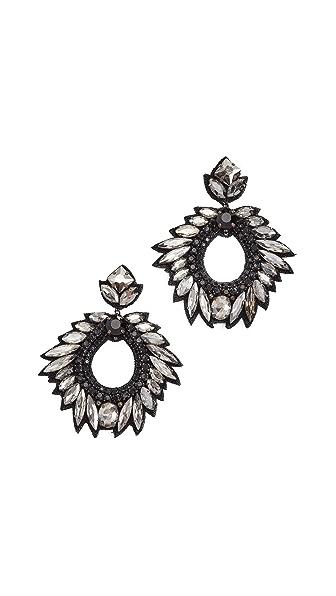 Deepa Gurnani Deepa by Deepa Gurnani Lily Earrings In Black