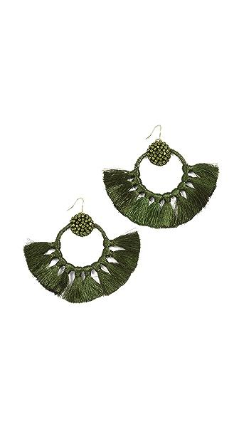 Deepa Gurnani Deepa by Deepa Gurnani Natalie Earrings In Forrest Green