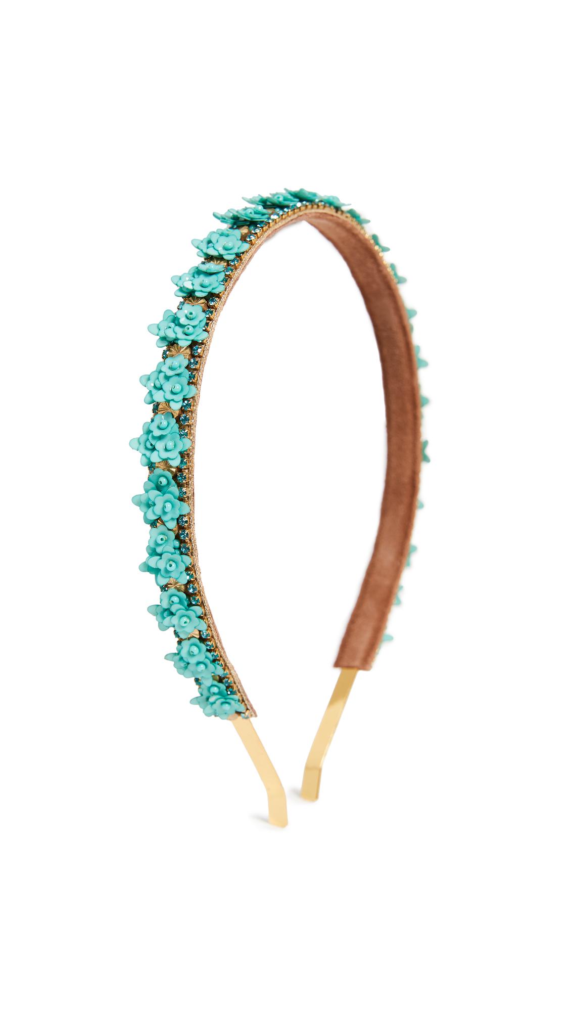 Deepa Gurnani Deepa by Deepa Gurnani Milo Headband In Turquoise