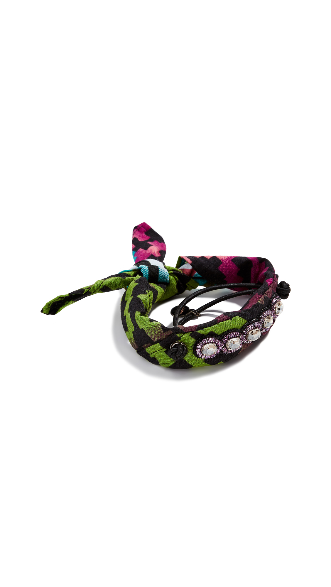 DEEPA GURNANI Monica Hair Tie in Aqua