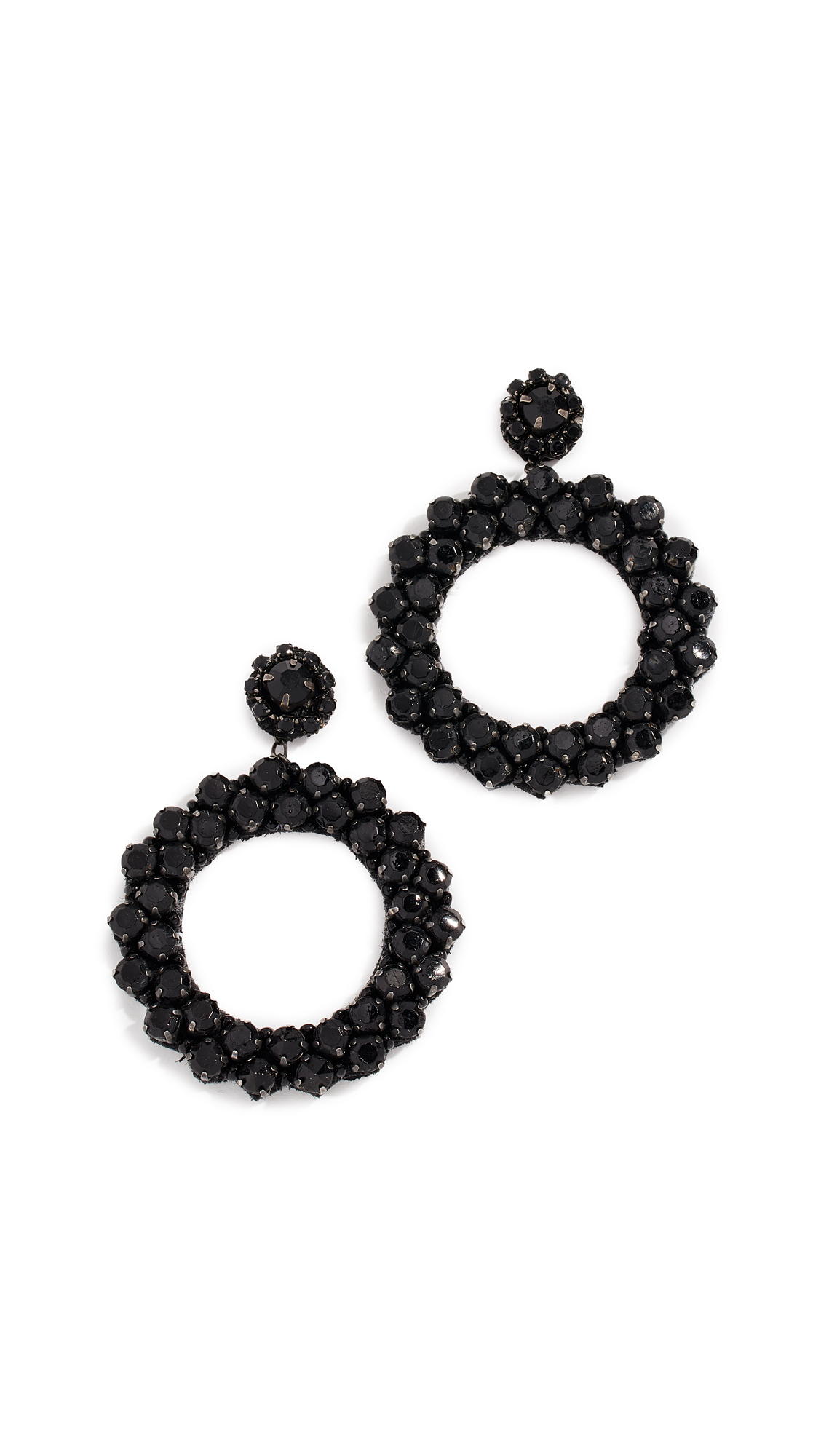 DEEPA GURNANI Amorax Earrings in Black