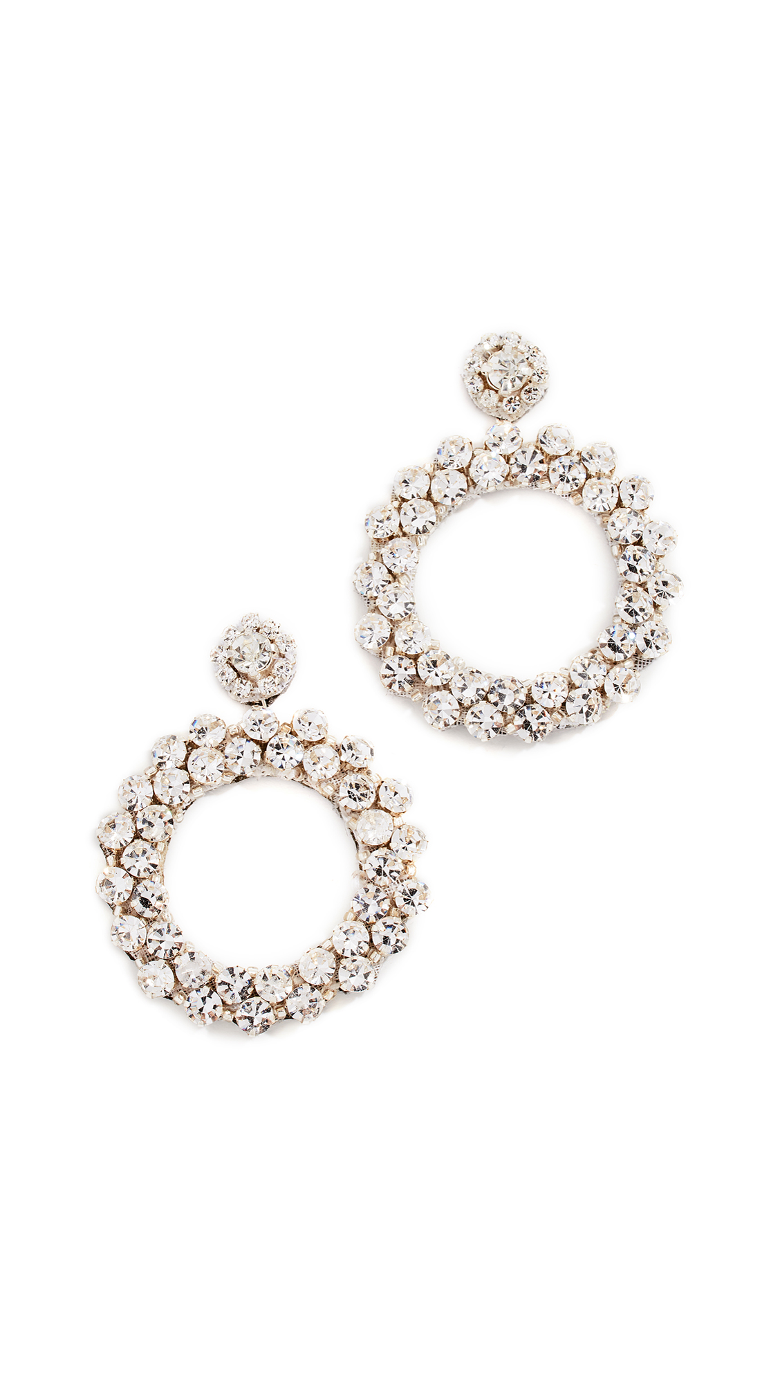 DEEPA GURNANI Amorax Earrings in Silver