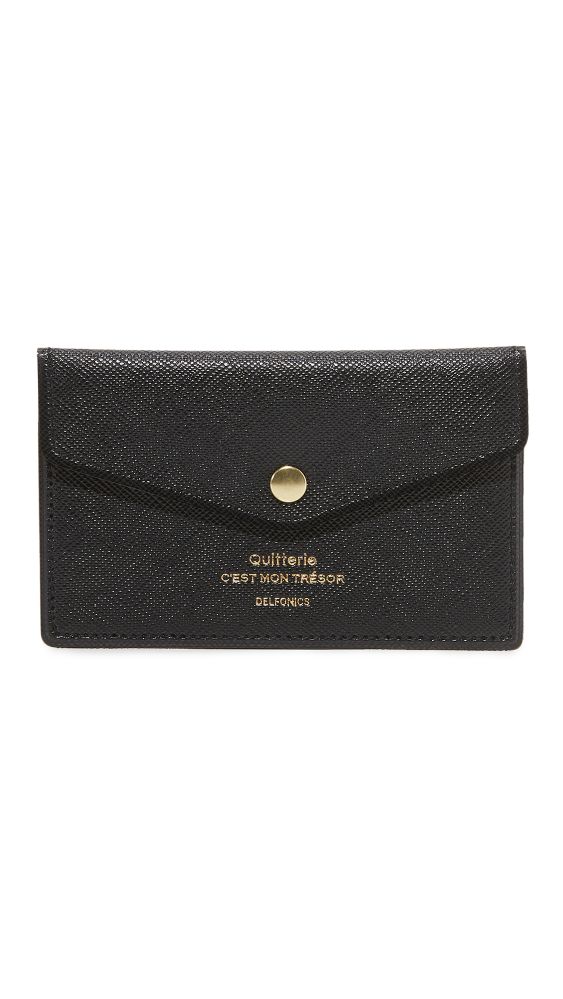 DELFONICS Quitterie Card Case With Snap in Black