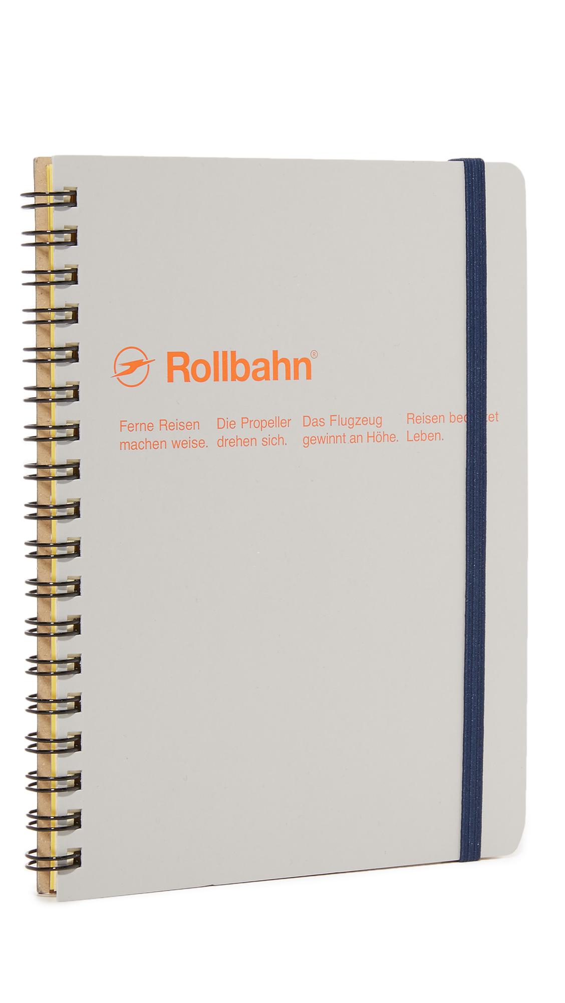 DELFONICS Rollbahn Spiral Notebook in Ash Grey