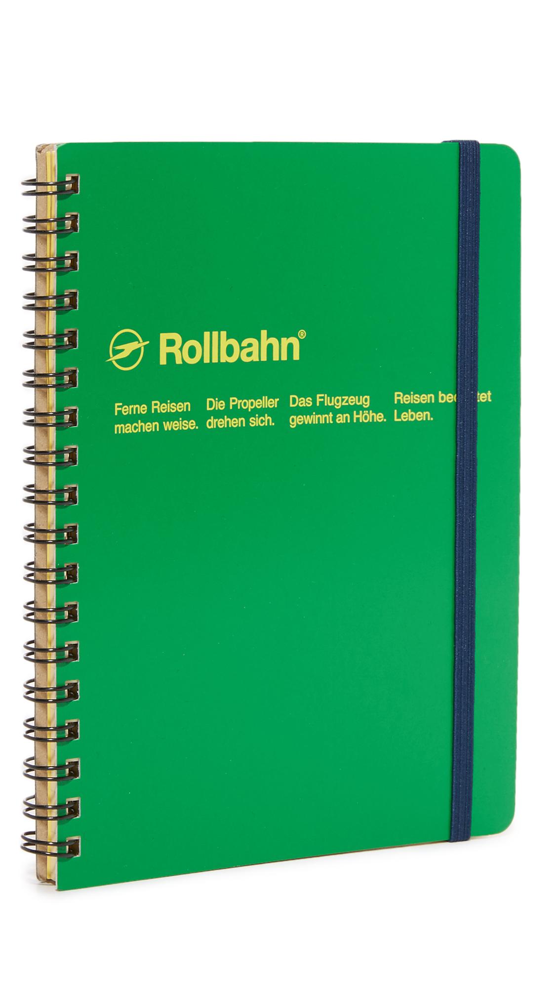 DELFONICS Rollbahn Spiral Notebook in Forest Green