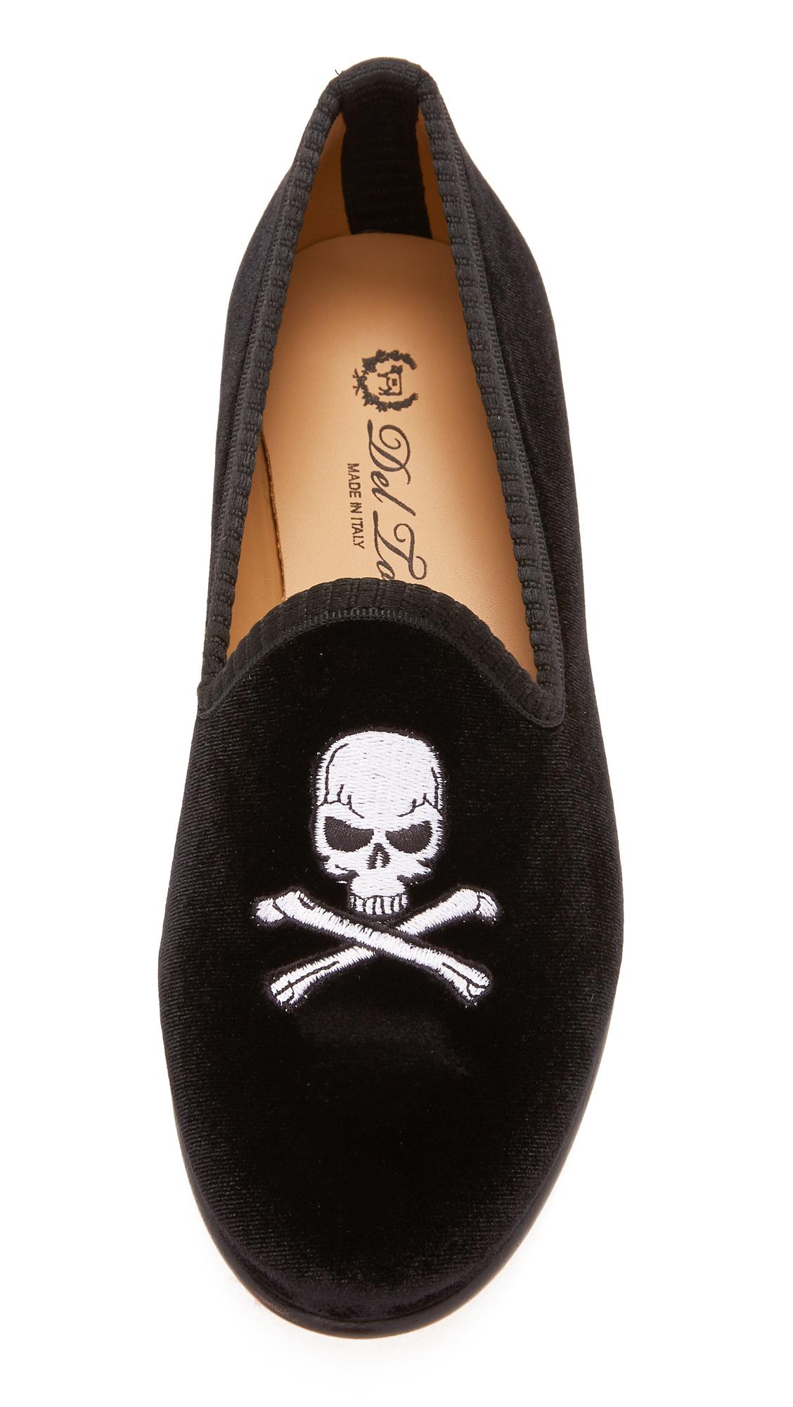 bf6d1d2335588 Del Toro Classic Velvet Skull and Bone Smoking Slippers | SHOPBOP