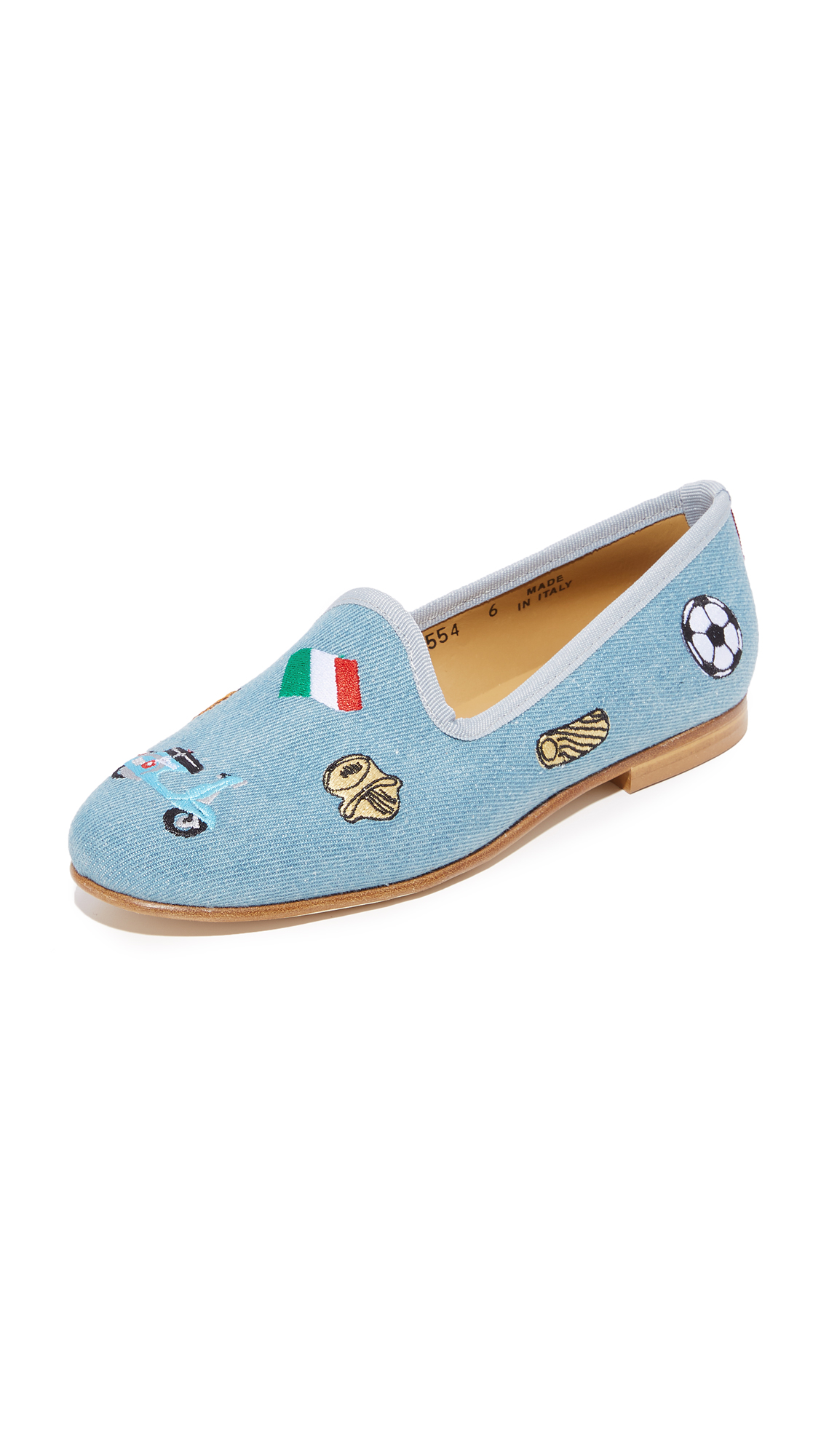 Del Toro Italia Modern Flats - Light Denim