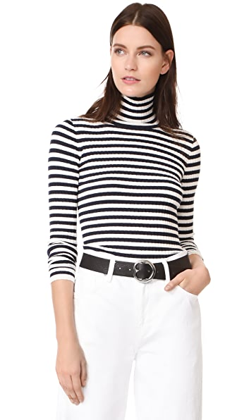 DEMYLEE Ally Turtleneck Sweater - Navy/White