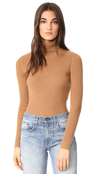 DEMYLEE Mackena Turtleneck Sweater In Chestnut