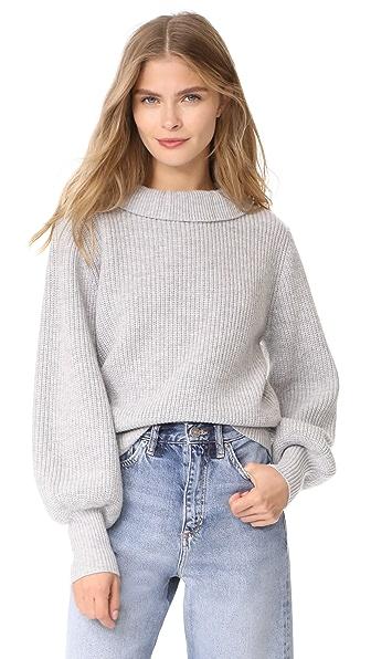 DEMYLEE Claudette Sweater - Light Heather Grey