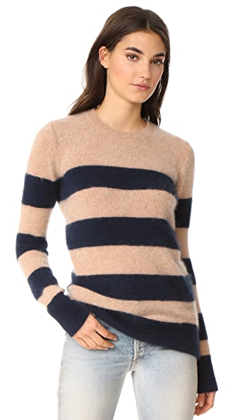 DEMYLEE 10th Anniversary Yuki Sweater In Camel/Navy