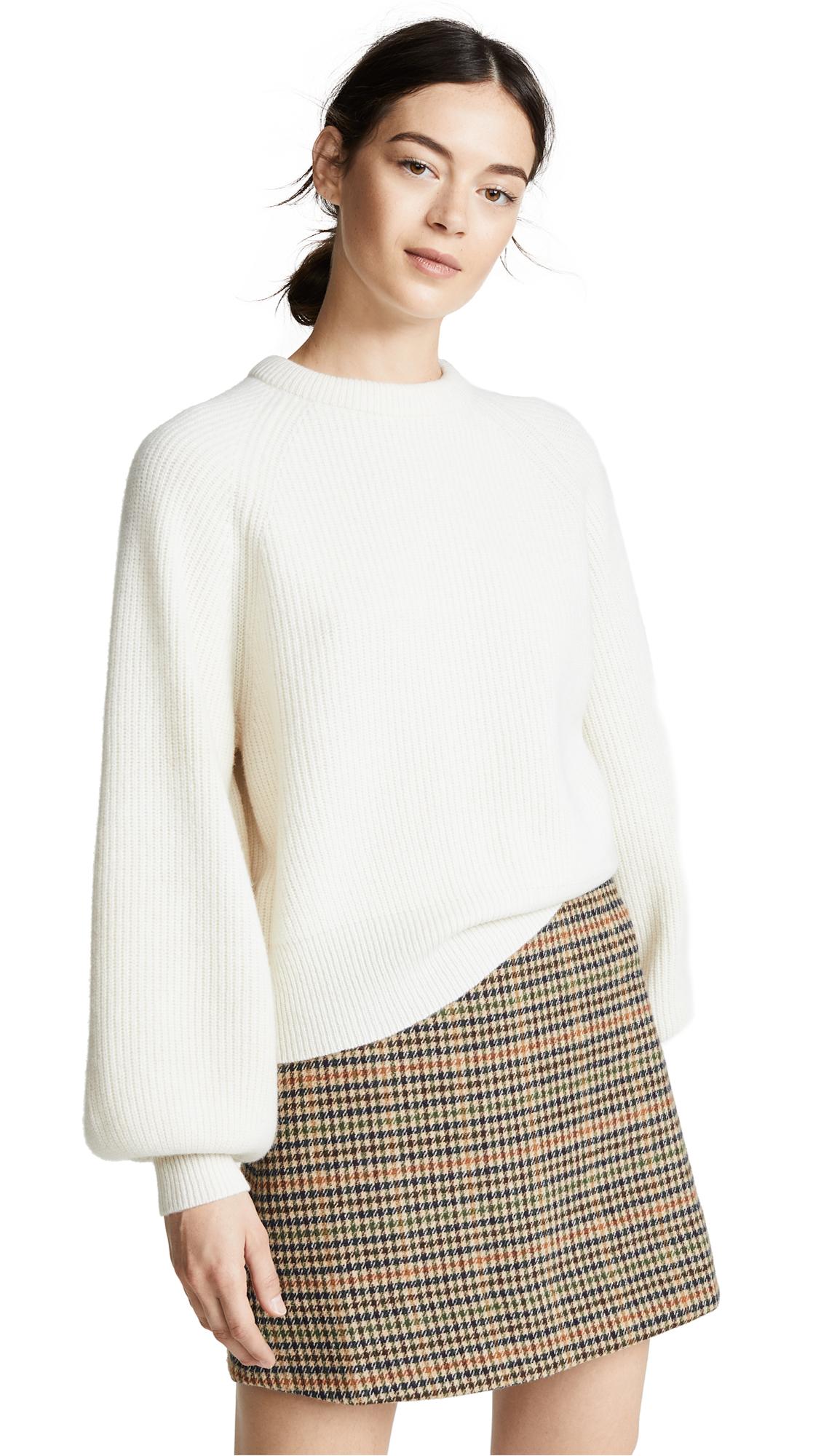 DEMYLEE Sabrinna Wool Sweater In White