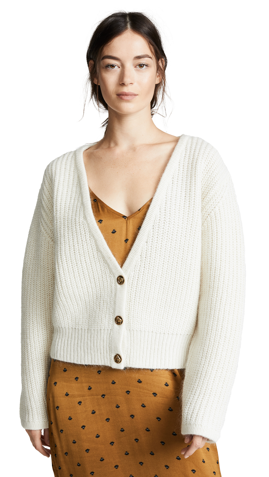 DEMYLEE Chester Cardigan in White