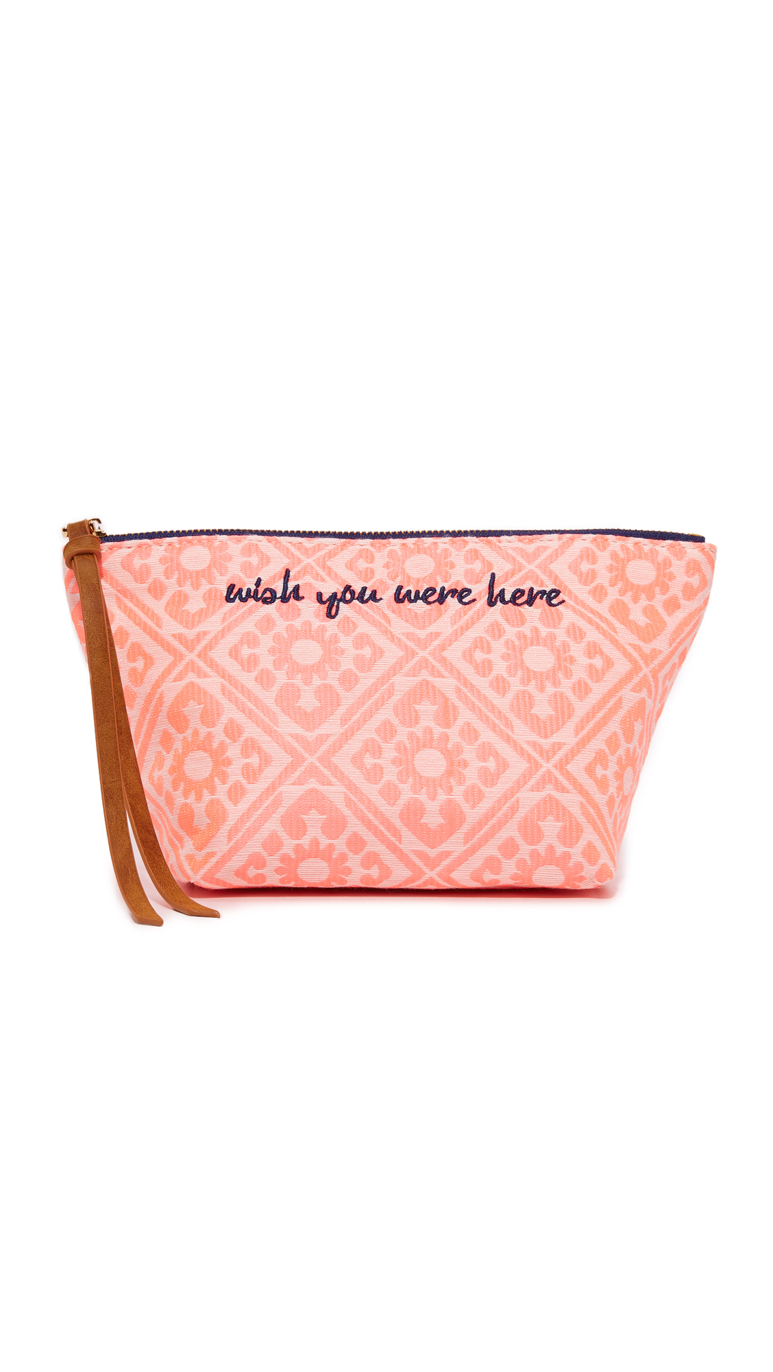 deux lux female 123936 deux lux wish you were here cosmetic case coral
