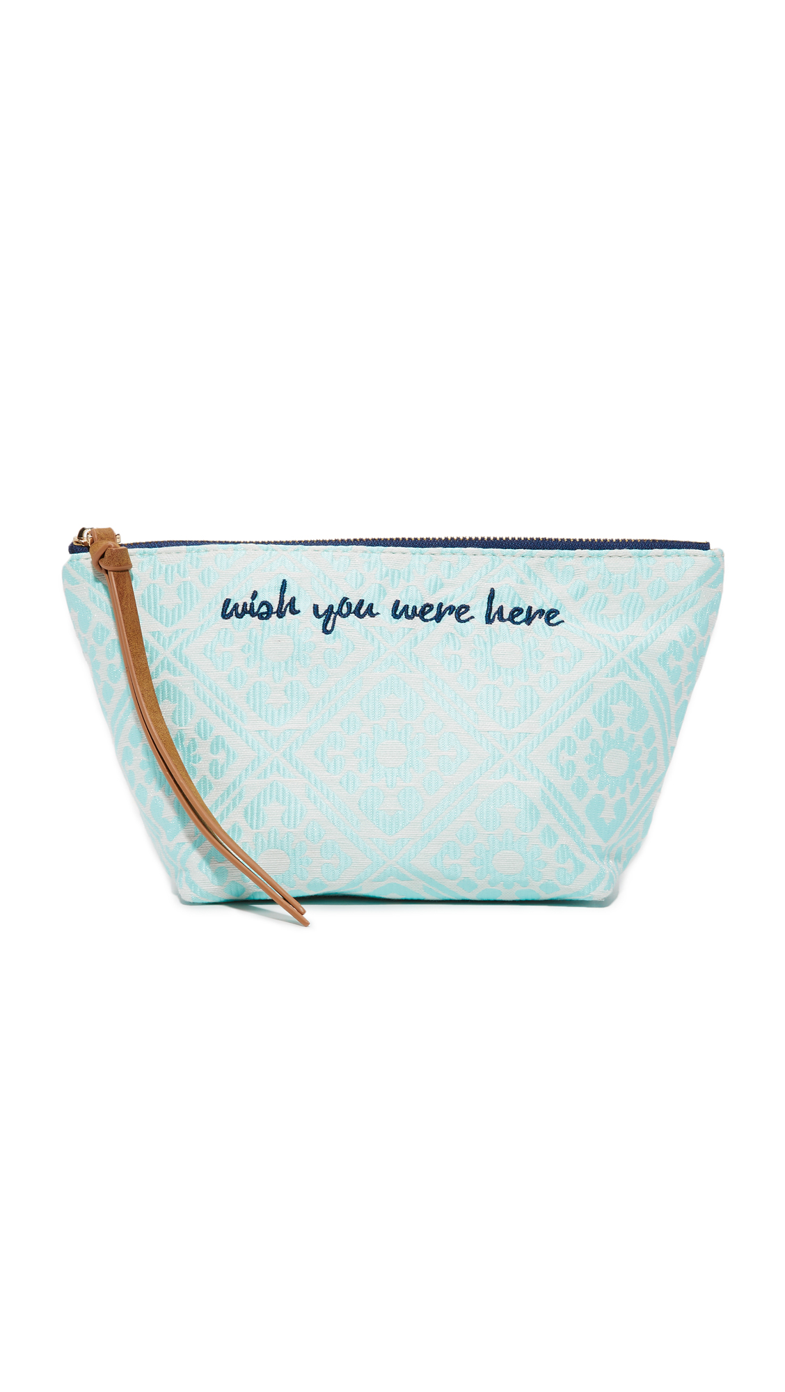 deux lux female 201920 deux lux wish you were here cosmetic case blue