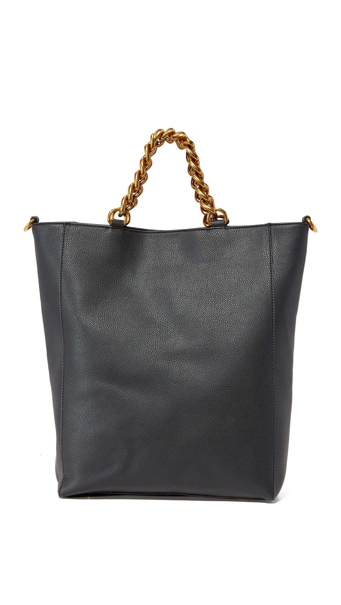 Deux Lux Roma North / South Tote - Black