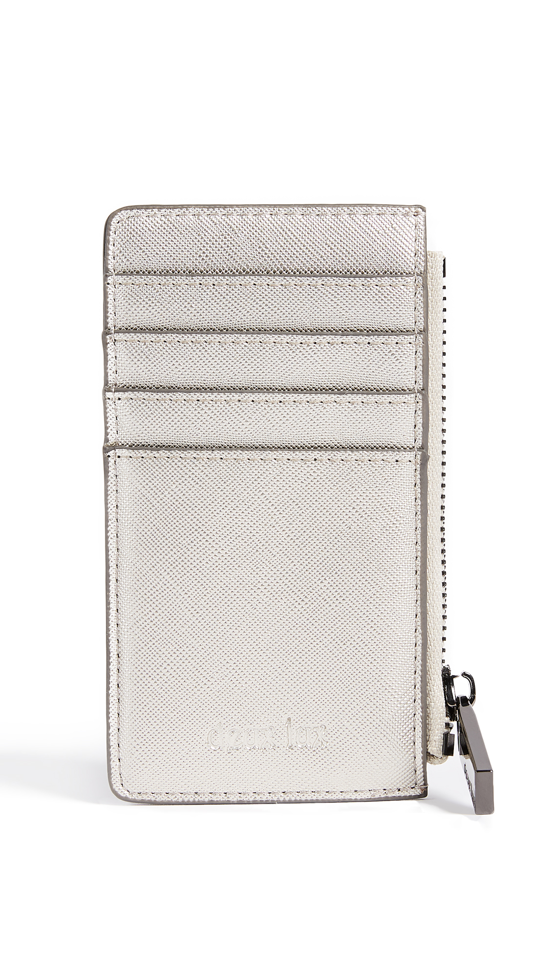 Deux Lux Rose Card Case - Silver