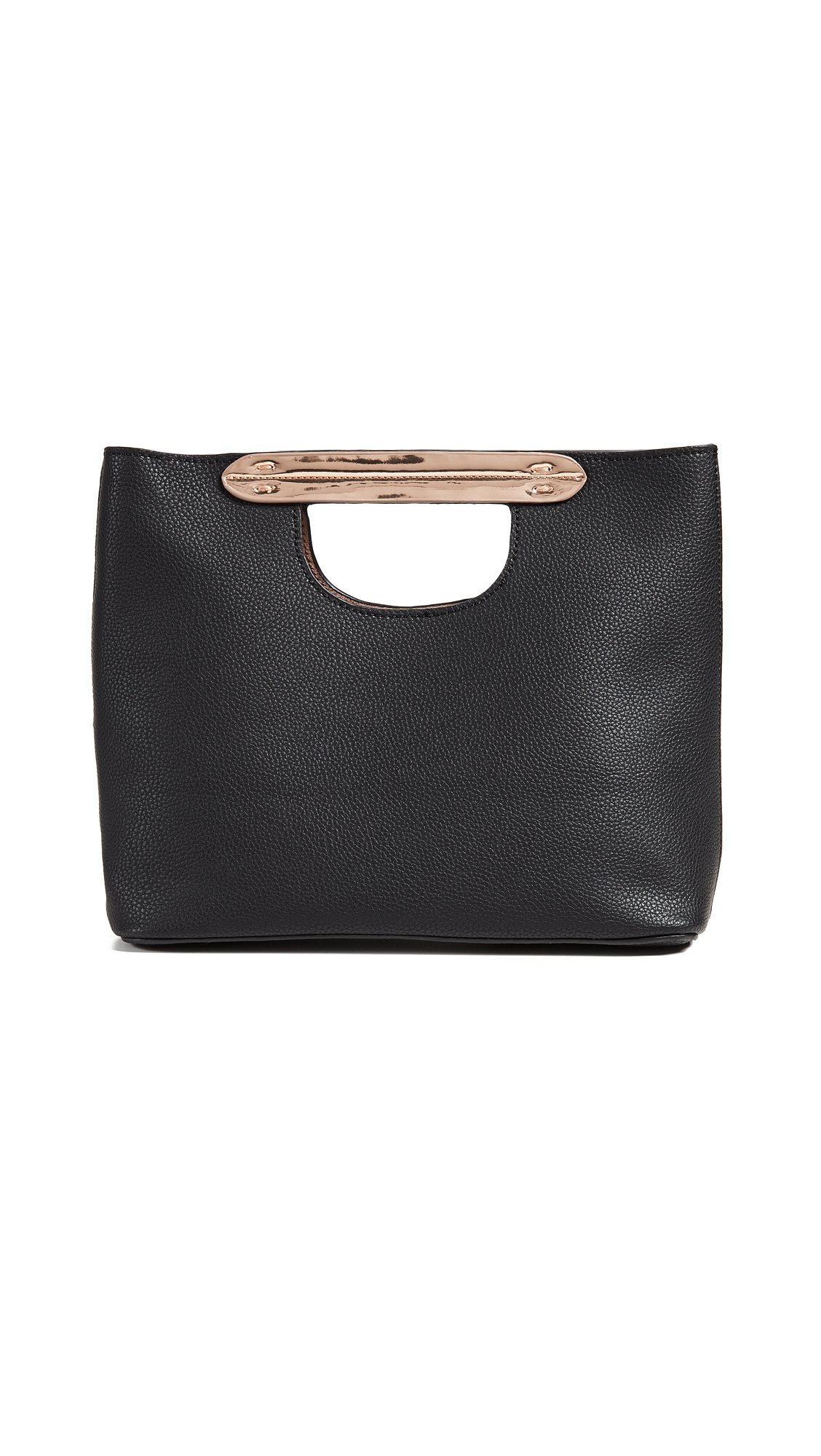 Small Hand Tote, Black