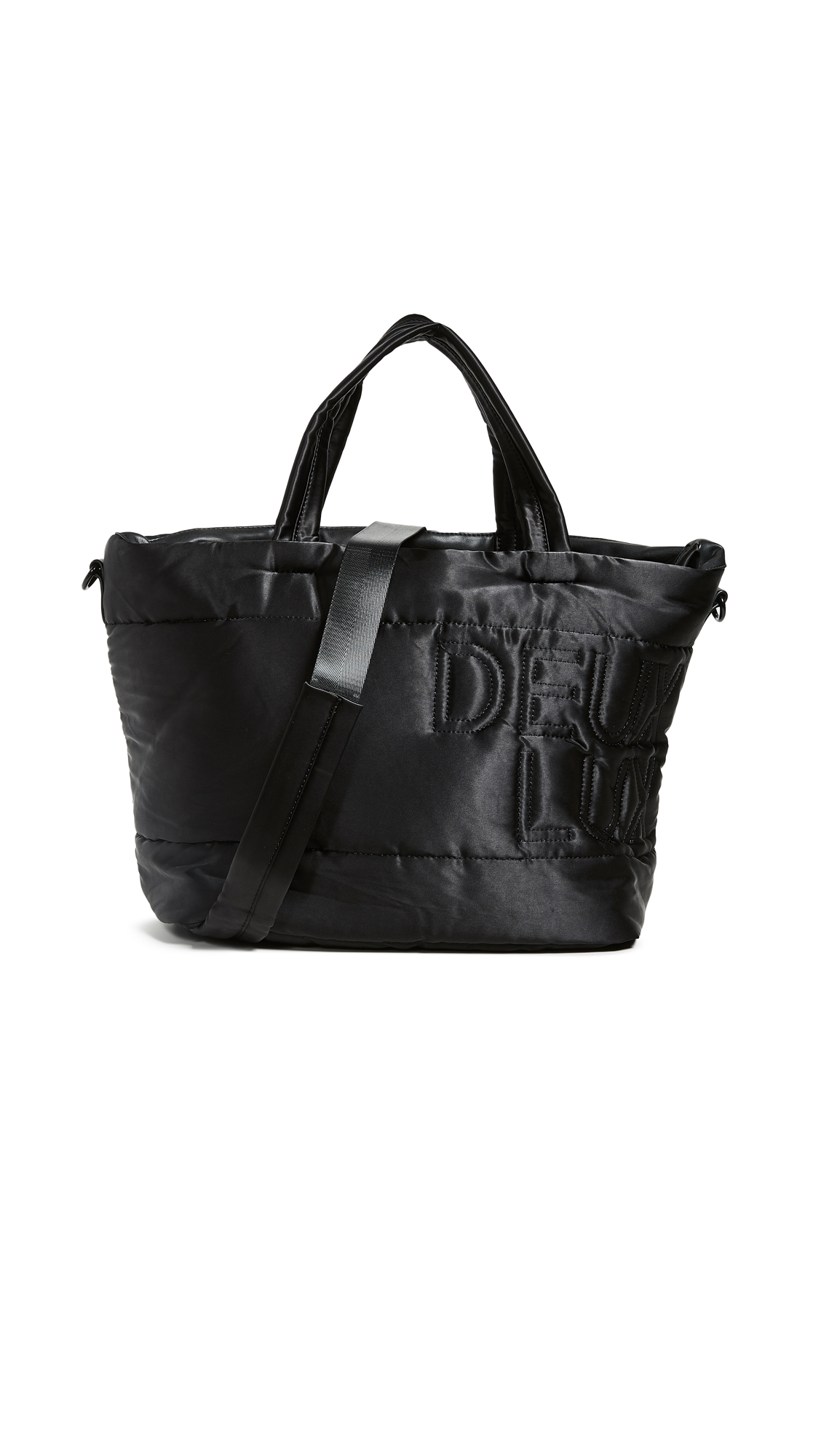 Fabric: Satin Embroidered logo Zip at top Zip interior pocket Patch interior pockets Removable strap Lined Weight: 21oz / 0.6kg Imported, China Measurements Height: 11.75in / 30cm Length: 13.75in / 35cm Depth: 8.75in / 22cm Strap drop: 22in / 56cm Handle drop: 6.25in / 16cm