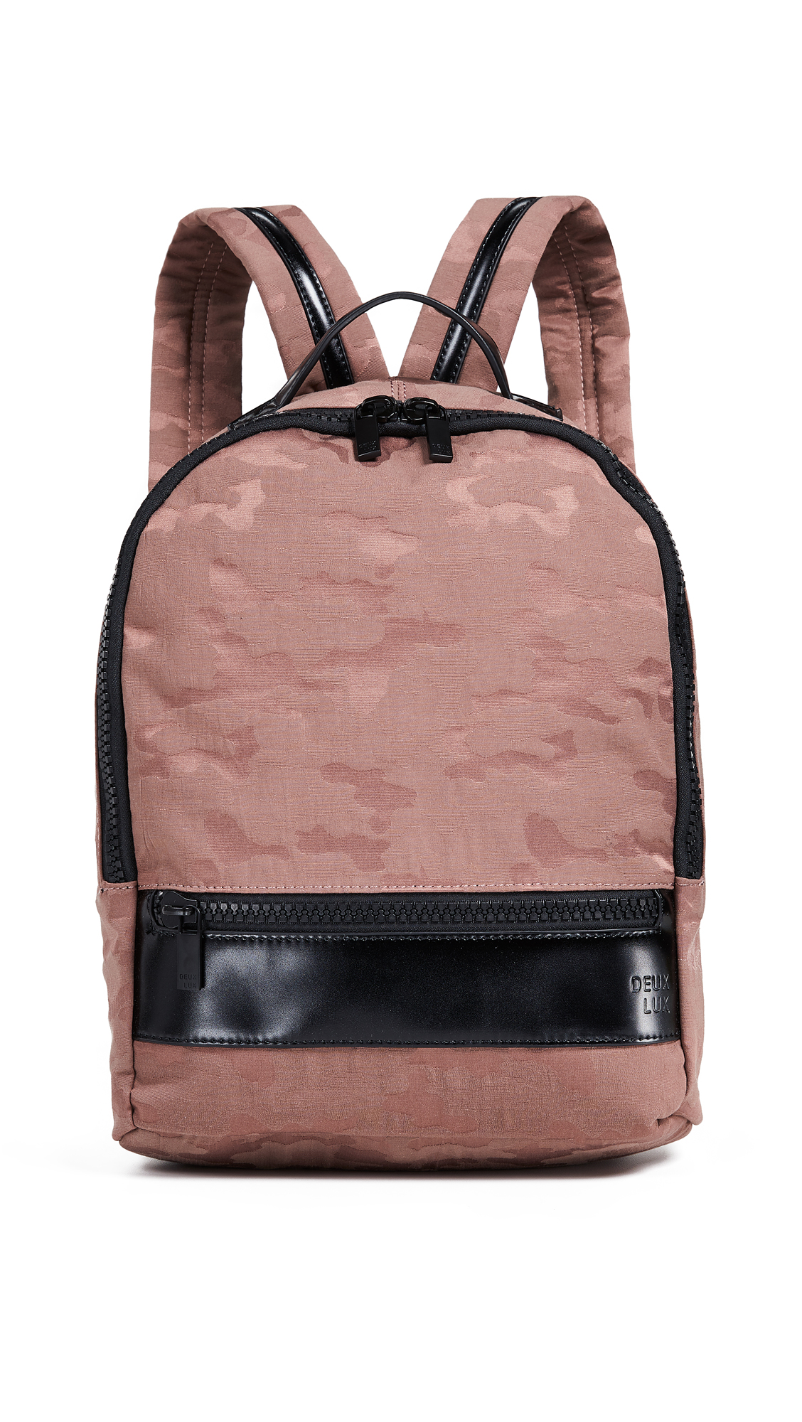 Fabric: Canvas Camo print Zip at top Zip front pocket Patch interior pocket Zip interior pocket Shoulder straps Lined Dust bag included Weight: 19oz / 0.54kg Imported, China Measurements Height: 12.5in / 32cm Length: 10.75in / 27cm Depth: 4in / 10cm