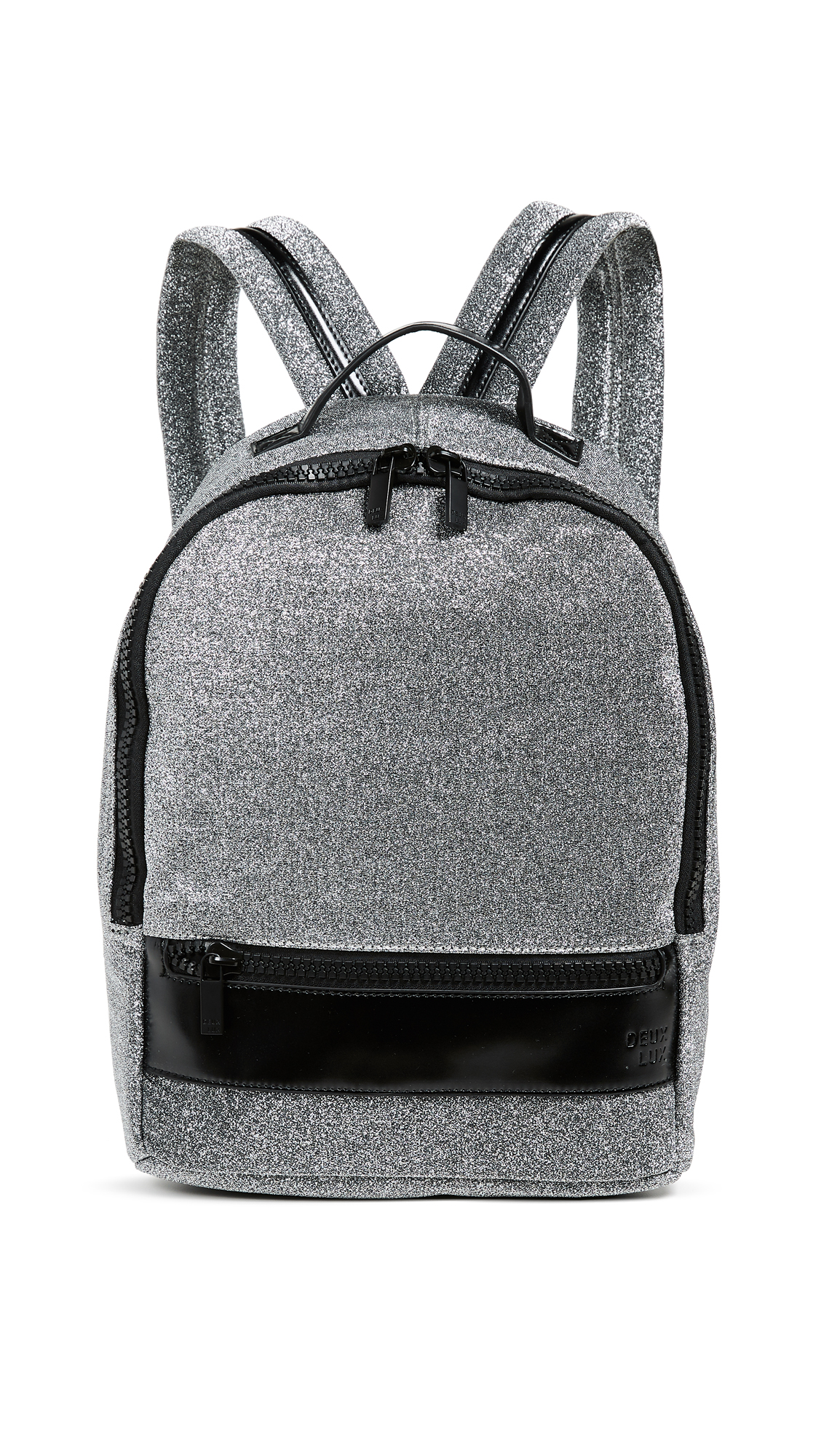 DEUX LUX Flow Backpack in Silver Sparkle