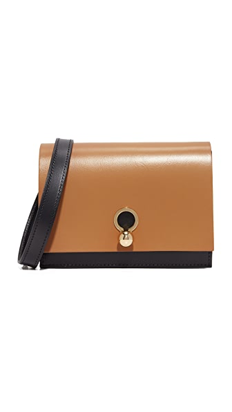 Danielle Foster Charlie Cross Body Bag - Black/Tan