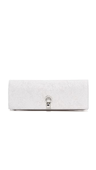 Danielle Foster Katie Clutch - White Crackle