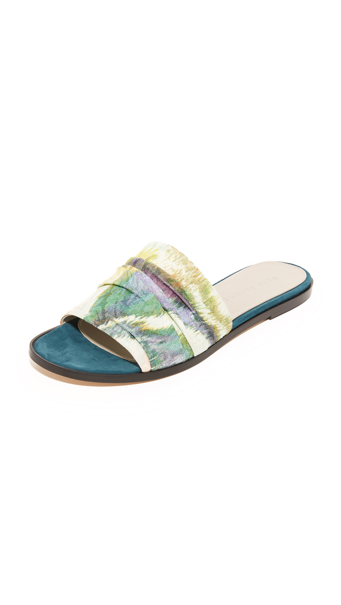 Dear Frances Jen Slides - Marine/Brocade