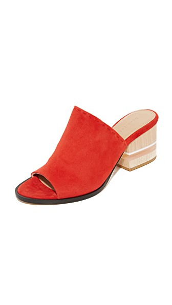 Dear Frances Poser Mules - Bright Red