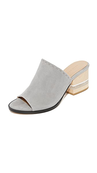 Dear Frances Poser Mules - Grey