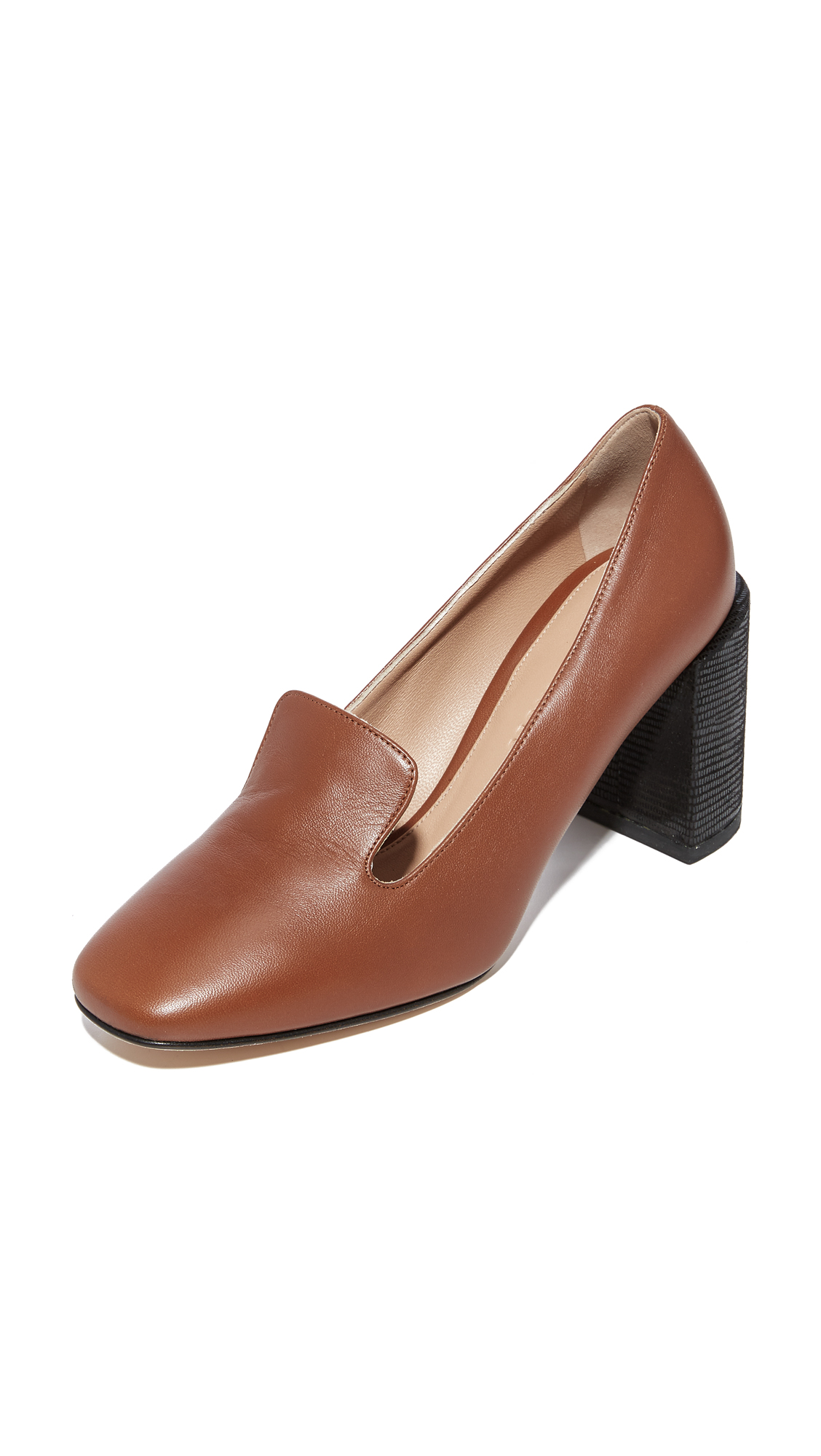 Dear Frances Mira Loafer Pumps - Copper