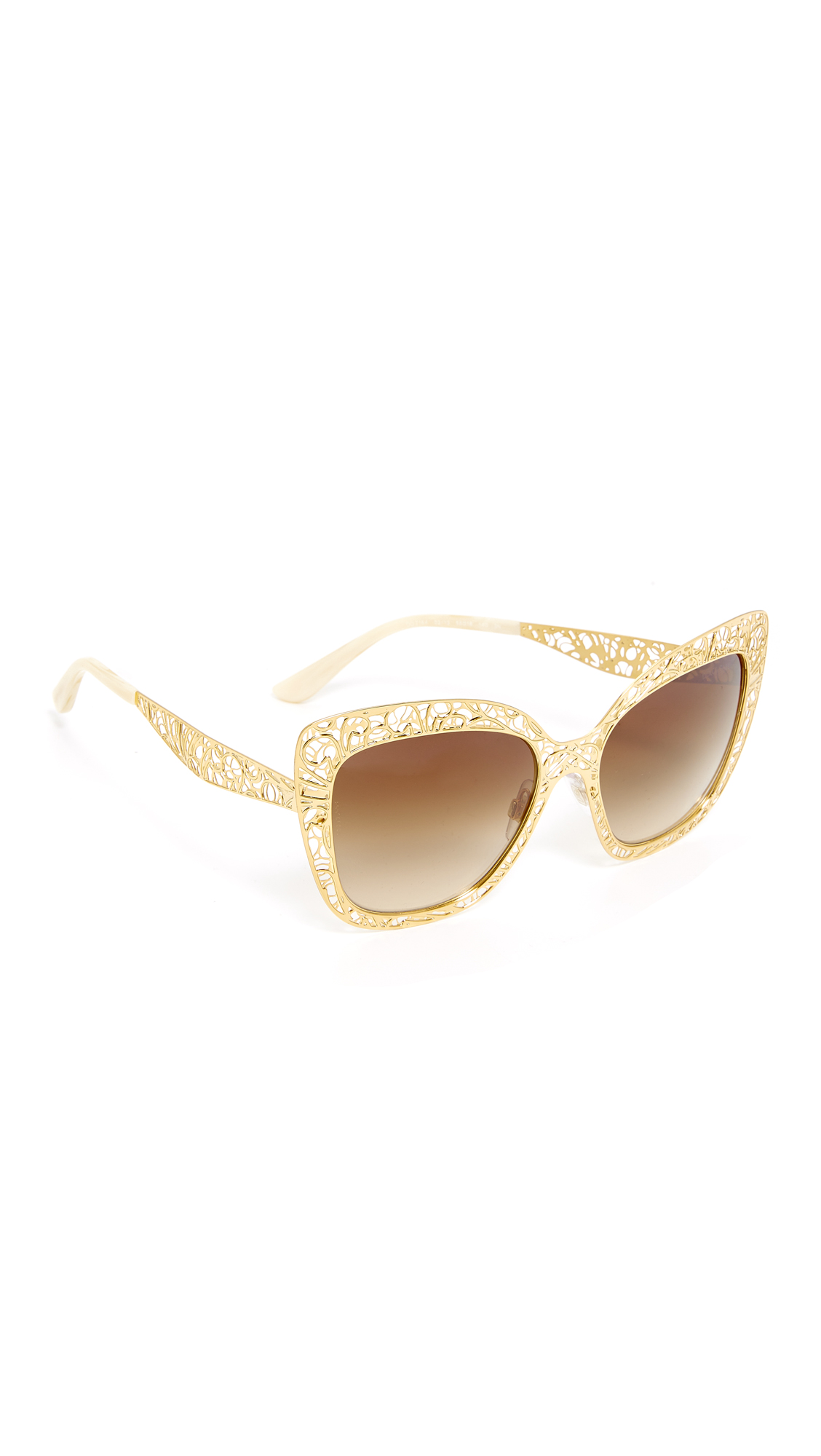 Dolce & Gabbana Lace Sunglasses - Gold/Brown at Shopbop